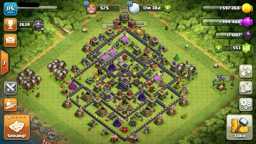 TOWN HALL 9   WALL LEVEL 9-10