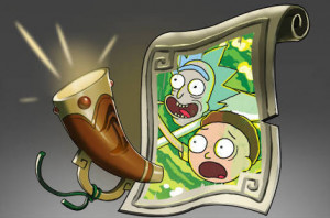 Announcer rick and morty
