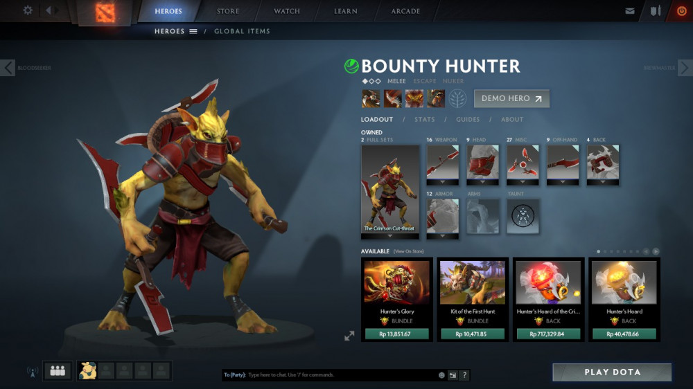 The Crimson Cut-throat (Bounty Hunter Set)