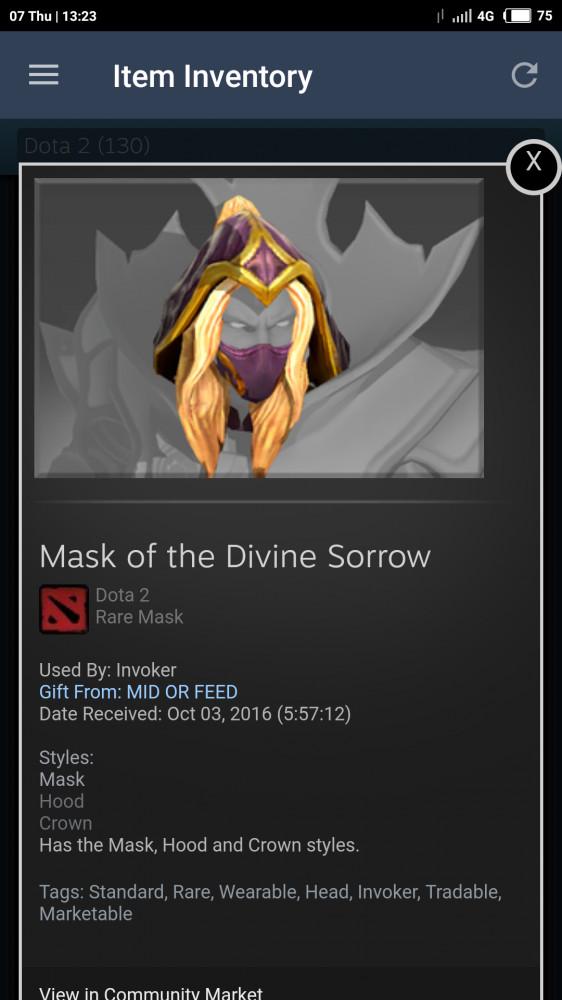 Mask of Divine Sorrow