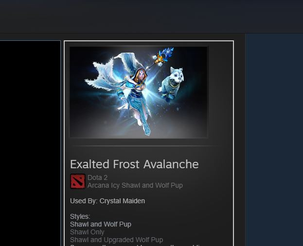 Exalted Frost Avalanche (Arcana Crystal Maiden)