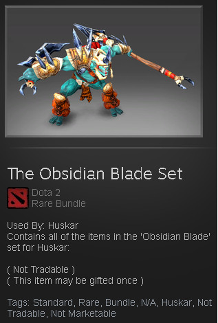 The Obsidian Blade Set (Huskar Set)