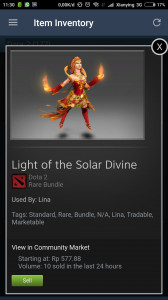 Light of the Solar Divine (Lina Set)