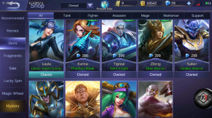 AKUN MOBILE LEGEND LVL MAX 30