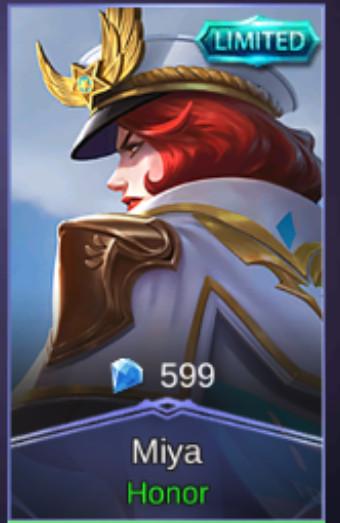Honor (Special Skin Miya) iOs bisa