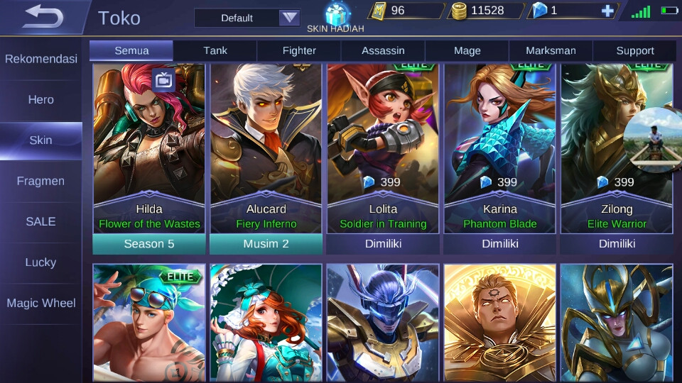 Akun Mobile Legend S2 Change name On