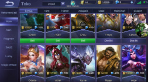 Akun Mobile Legend Lv max