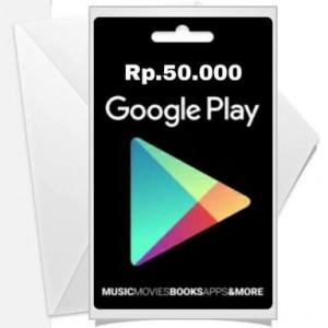 Google Play Gift Card – IDR 50.000
