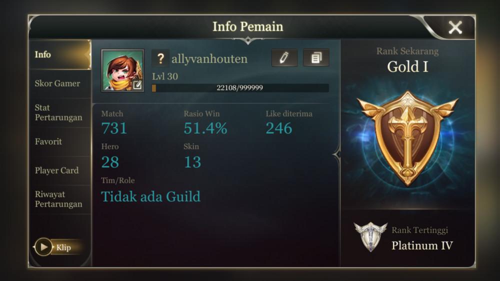 Akun AoV skin 13
