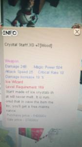 CRYSTAL STAFF (ICE WIZARD 16X)XG+7
