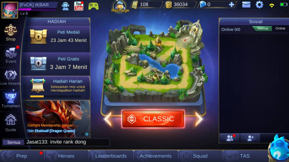 Akun Mobile Legends GG  Termurah√