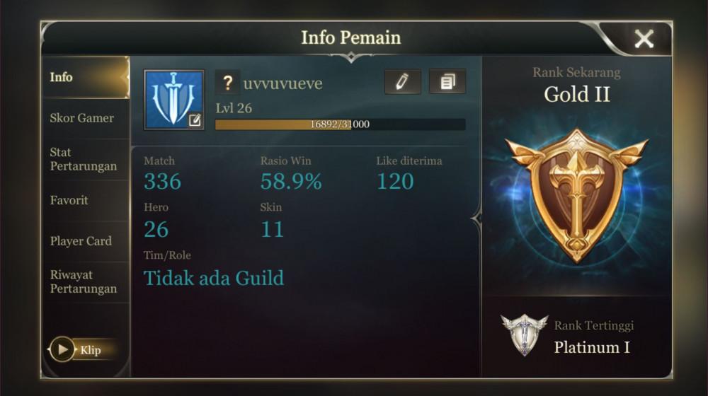 AOV RANK GOLD II