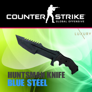 Huntsman Knife | Blue Steel