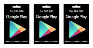 Google Play Gift Card – IDR 300.000
