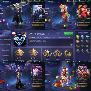 AKUN MOBILE LEGEND HERO 30 SKIN 50 ALL GG PROMO++
