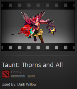 Taunt: Thorns and All (Dark Willow Taunt)