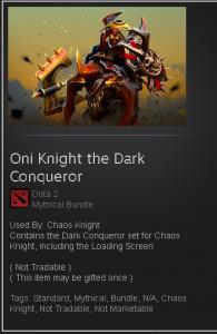 Oni Knight the Dark Conqueror (Chaos Knight Set)