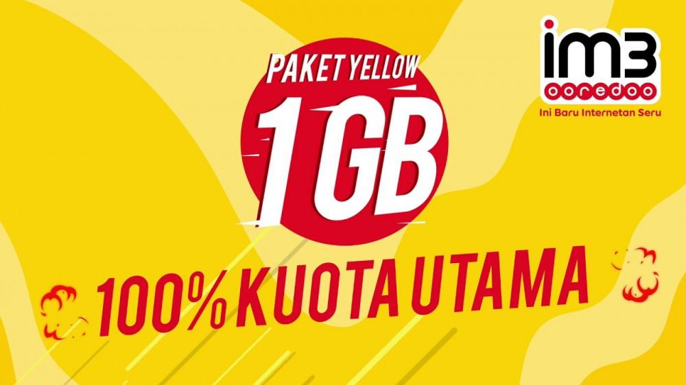 Indosat DATA Yellow 1GB (Masa aktif : 7 Hari)