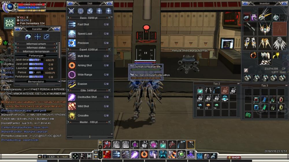 ACC Lv 50 Job Trapper Server LUNAR