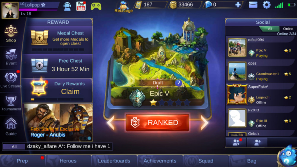 Akun Mobile Legends GG