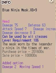 Blue Ninja Mask.XG +9
