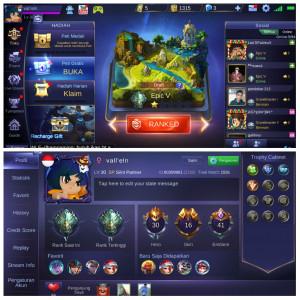 Hero 30/Skin 16/All Bind/ Epic V/ S6-S2/ Aman 100%