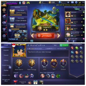 Hero 34/ Skin 19/ All Bind/ Star clint+Epic Zilong