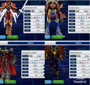 ID Digimon Links Global Strong Digimon +4 Veteran