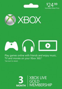 Xbox Live Gold 3 Months Membership Worldwide