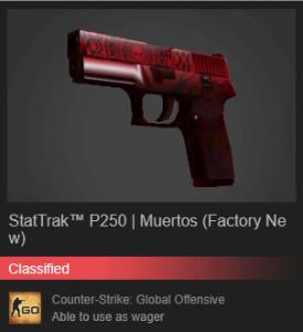 StatTrak™ P250   Muertos (Factory New)