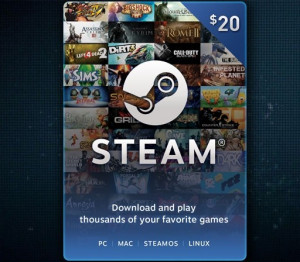 Steam Wallet Code - US$20