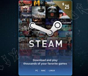 Steam Wallet Code - US$25