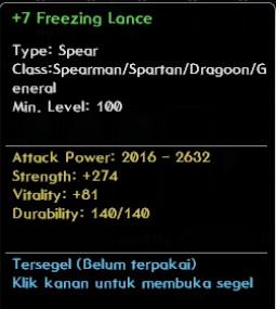 Freezing Lance +7