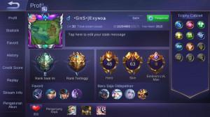 Akun Sultan Legend 2 Skin & Hero & Emblem Joss