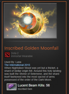 Golden Moonfall (Immortal Luna)