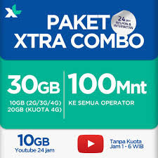 Paket Extra Combo 35GB+35GB Youtube+Telp 140mnt