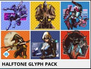 Halftone Glyph Pack