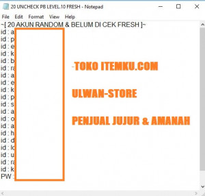 RANDOM UNCHECK PB LEV.10 ANTI CEK-CEK CLUB FRESH