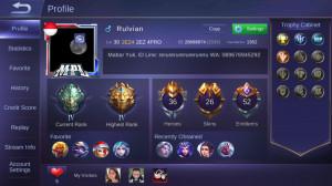 Akun Mobile Legend Tier Epic IV