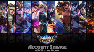 AKUN GG | SAVAGE 6 | BATTLE POINT 45K