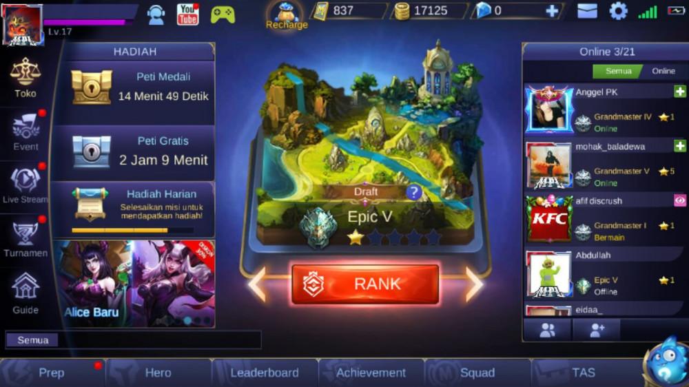 New Akun Murah || WIN RATE TINGGI || RANK EPIC