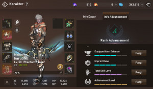 Akun lineage2 job Phantom Ranger server majapahit