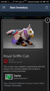 Royal Griffin Cub   ( courier )