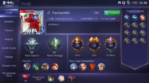 Hero 25 Skin 12|GM 3|Skin S2 Alucard|All unbint|GG
