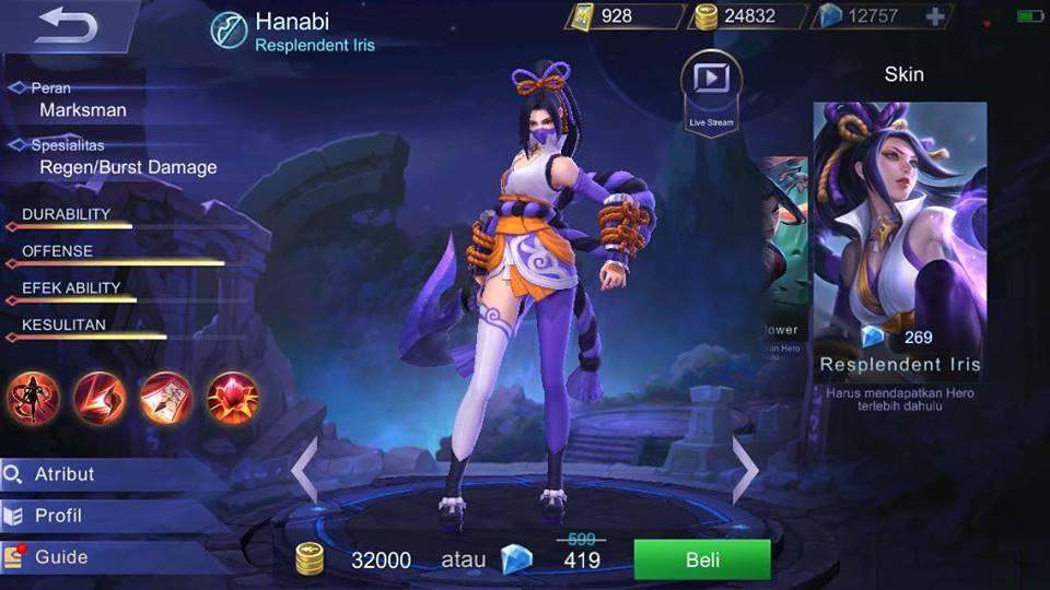Image result for hanabi mobile legend
