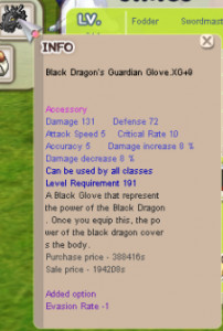 Black Dragon's Guardian Glove XG