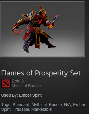 Flames of Prosperity (Ember Spirit Set) & kinetic