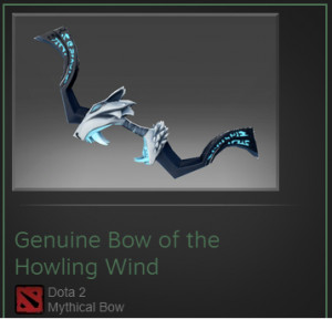 Genuine Bow of the Howling Wind (Drow Ranger)