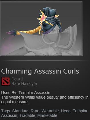 Charming Assassin Curls (Templar Assassin)
