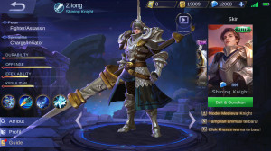 Shining Knight (Skin Zilong) Android/IOS